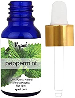 Peppermint Oil - 100% Pure and Natural - Ideal for Use in Aromatherapy - Excellent Choice for Skin and Muscles