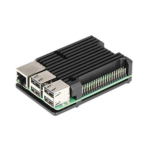 Raspberry Pi 3Model B + custodia in alluminio con doppia ventola di raffreddamento di metallo nero, compatibile con Raspberry Pi 3Model B nero Without fan