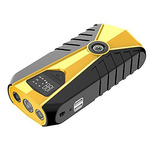 Wenxu Arrancador de batería portátil universal para coche, color amarillo, cargador multifunción de batería ABS 16800 mAh