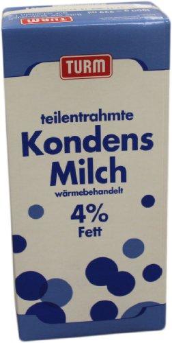 Turm Teilentrahmte Kondensmilch Wärmebehandelt 4% Fett (1kg Kartonpack)