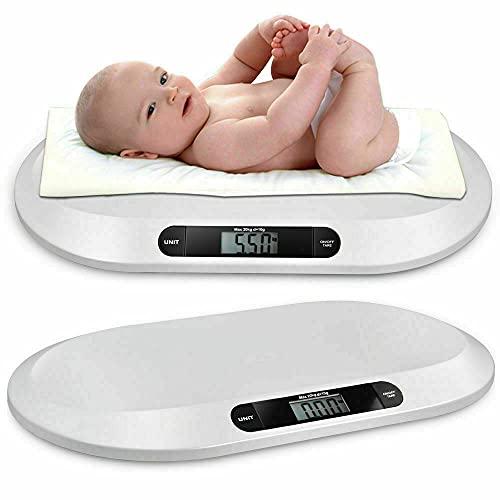 Pèse-bébé numérique pour nouveau-nés - Jusqu'à 20 kg - Avec écran LCD - Fonction tare - Arrêt automatique