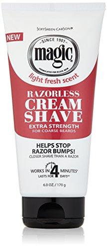 Softsheen-Carson Magic Razorless Shaving Cream for Men, Hair Removal Cream, Extra Strength for Coarse Beards, No Razor Needed Depilatory Cream Works in 4 Minutes for Coarse Hair, 6 oz