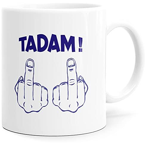 Taza con texto en inglés 'Humour Tadam', idea de regalo original para amigos, pareja, enamorados, hermanas, hermanas, pote para cumpleaños, Navidad o simplemente para el placer.