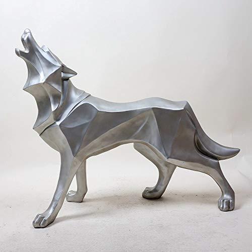 WSJ Statue Garten Ornament Kunsthandwerk Gartenmöbel Dekoration , Wolf Hund Statue Skulptur Zubehör Modern Ornament Geschenke Handwerk