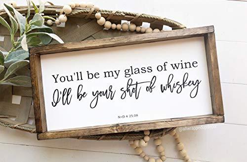 Onbekend U zult mijn glas wijn ziek zijn uw schot van whisky land lyrische teken geschilderd teken boerderij stijl