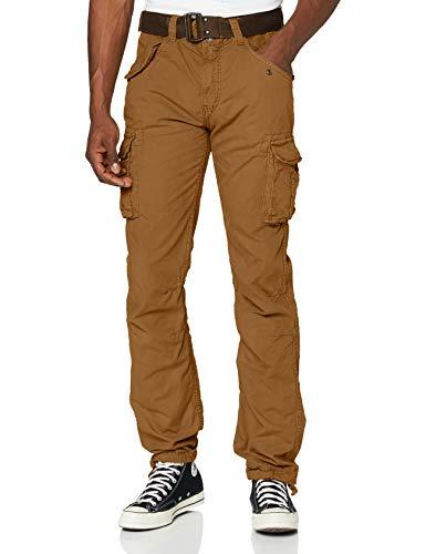 Schott NYC Trbatle70pkr Pantaloni, Beige (Camel Camel), W28/L32 (Taglia Produttore: 28) Uomo