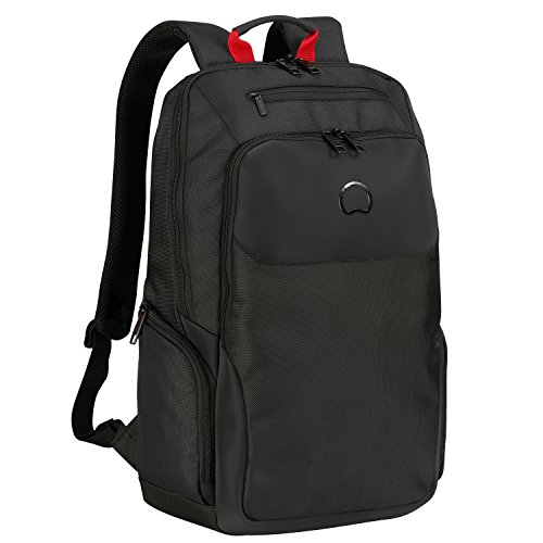 Delsey Paris PARVIS PLUS Zaino Casual, 48 cm, 27 liters, Nero (Noir)