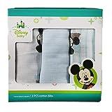DISNEY BABY - Set 3 Pcs Cotton Bibs Mickey Mouse GASA ESTAMPADA S922205