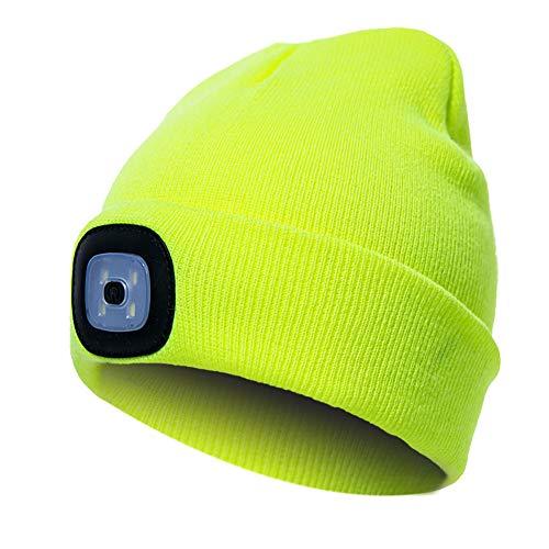 berretto con luce led LED moda berretto maglia Beanie caldo cappello