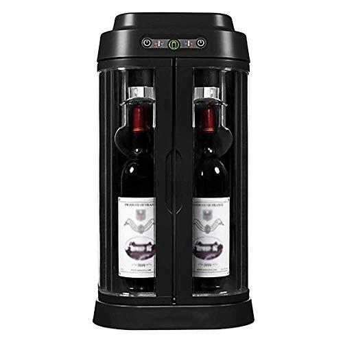 De sobremesa para conservar vinos Frescos, 2 Varillas |Control de Temperatura Inteligente |Gabinete de Vino con Puerta de Vidrio silencioso, Ahorro de energía