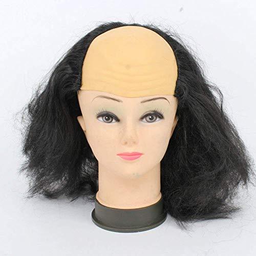 CHUTD Halloween Accessoires Latex Synthetische Vezel Pruiken Kaal Haar Party Grappige Cosplay Prop Masquerade Kostuum, Wit