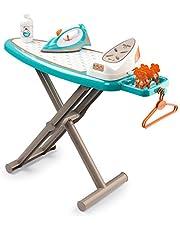 Smoby 7600330118 330118 - Speelgoedstrijkplank met strijkijzer, met accessoires, vanaf 3 Jaar, Blauw, Wit