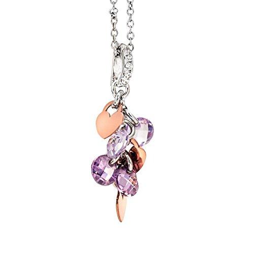 Collana Boccadamo Petit in argento con charms rosati e zirconi lavanda