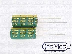 FidgetGear 10 x Sanyo WG 6.3V 2200UF Ultra Low ESR for VRM Computer Motherboard Capacitor