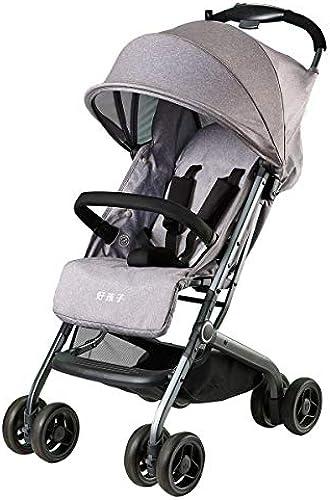 XUE Baby Stroller, Taschenauto Ultra-Light Falten Baby Umbrella One-Handed Falten mit 5-Punkt-Sicherheit Harness Multi-Positions-Liegen-Sitz Grün Lagerkorb