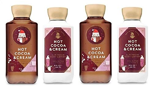 Bath and Body Works HOT COCOA & CREAM Value Pack- Lot of 2 Body Lotions and 2 Shower Gel - Full Size