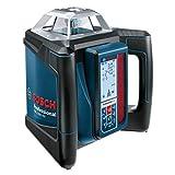 Bosch Professional GRL 500 HV + LR50 - Nivel láser giratorio (batería de litio integrada, alcance Ø 500m, antirobo, receptor, maletín)