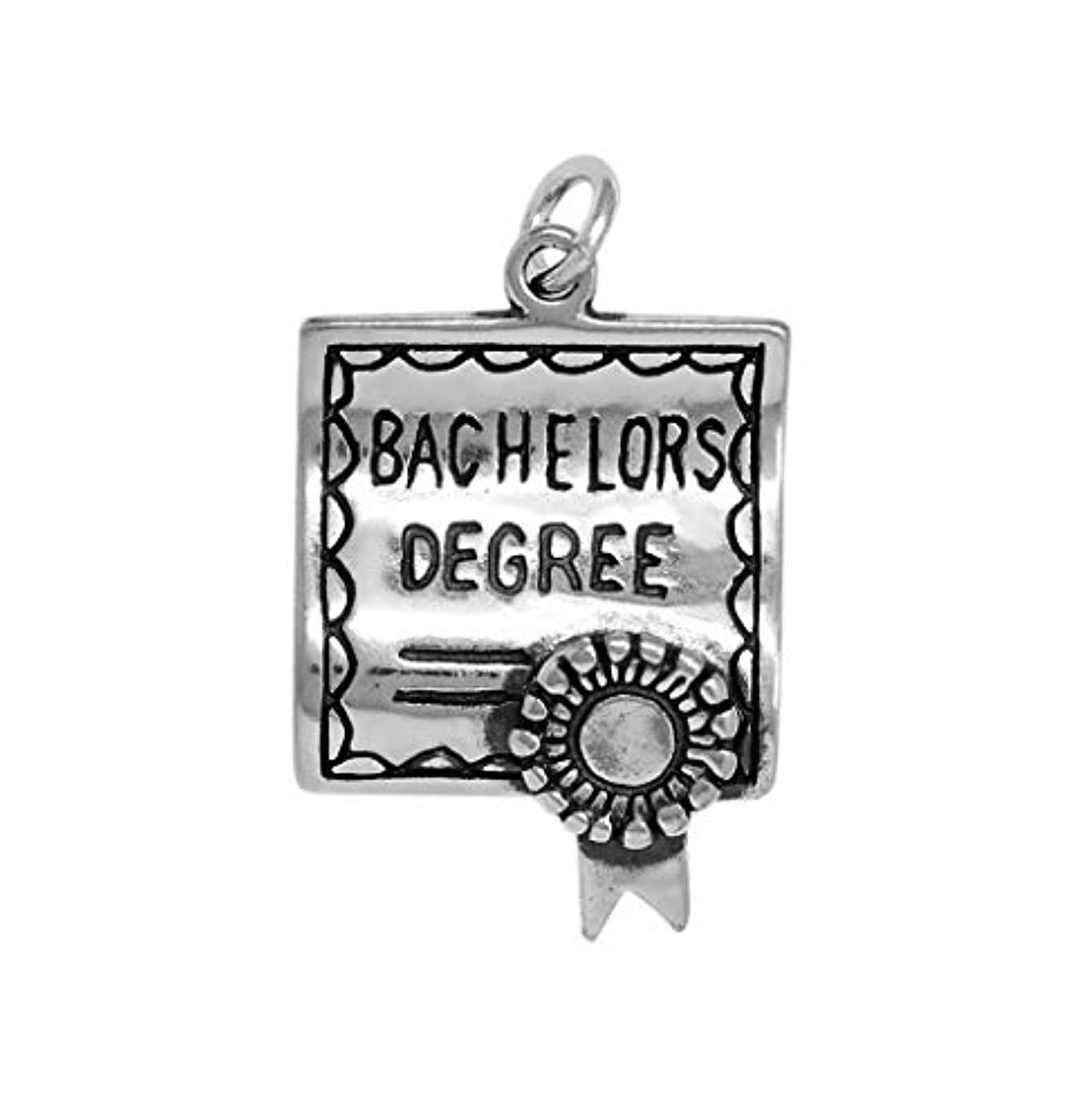 Raposa Elegance Sterling Silver Bachelors Degree Diploma Charm (approximately 20.5 mm x 16.5 mm)