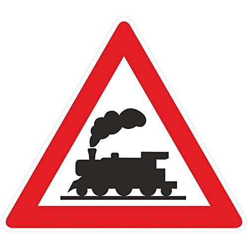 40cm Verkehrsschild Dampflok Eisenbahnschild Schild Lok Bahnübergang Bahn aus 5mm PVC