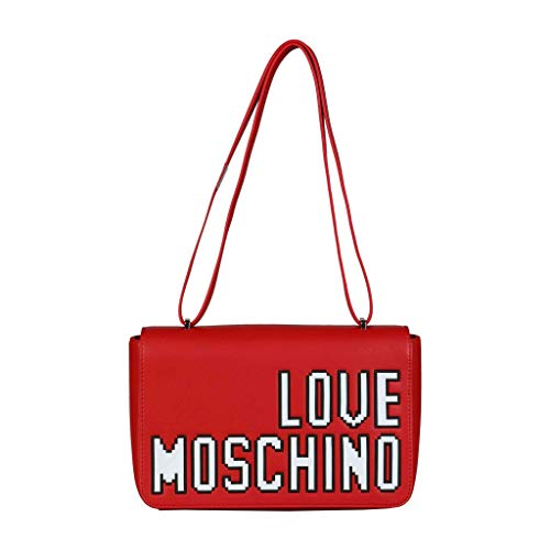 Love Moschino Pixel shoulder bag red