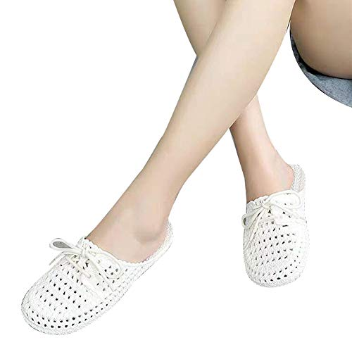 Gebuter Womens Slippers Comfortable Breathable Casual Slippers Closed Toe Hollow out Women Slippers Flat Sandals Shoes