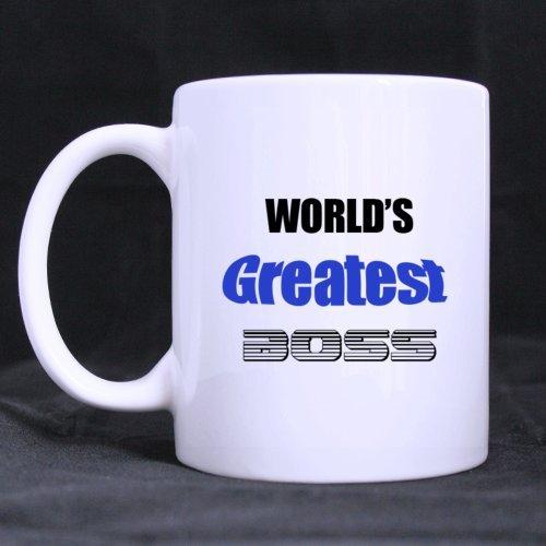 Funny taza–mundo de Okeyest Boss tema taza de café o tazas taza de té, Material cerámica regalo de cumpleaños Cool para los hombres, mujeres, Elle y Lui, madre de día