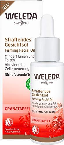 WELEDA Granatapfel Straffendes Gesichtsöl, reichhaltige Naturkosmetik Intensivpflege für straffere und lebendigere Haut. Wirkt antioxidativ und zellerneuernd und mindert Linien und Falten (1 x 30 ml)