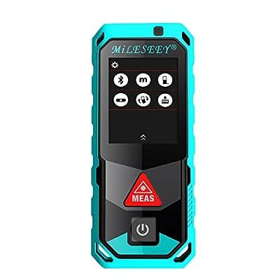 Mileseey P7 Laser Tape Measure, 80M/100M/150M/200M Handheld Laser Distance Meter Laser Measuring Device, Pythagorean Mode, Area Volume Calculation Laser Tape Measure Rangefinder, Bluetooth APP