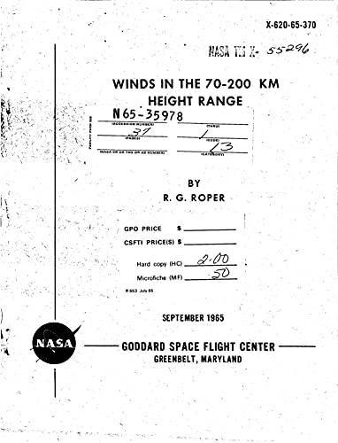 Winds In The 70-200 Km Height Range (English Edition)