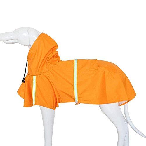 Cobeky Impermeable para perro, impermeable y ligero, poncho de lluvia para perro con tira reflectante para perros pequeños, medianos y grandes (naranja) S