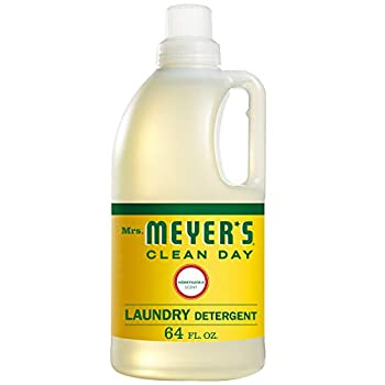 Mrs Meyer s Clean Day Liquid Laundry Detergent Cruelty Free and Biodegradable Formula Honeysuckle Scent 64 oz