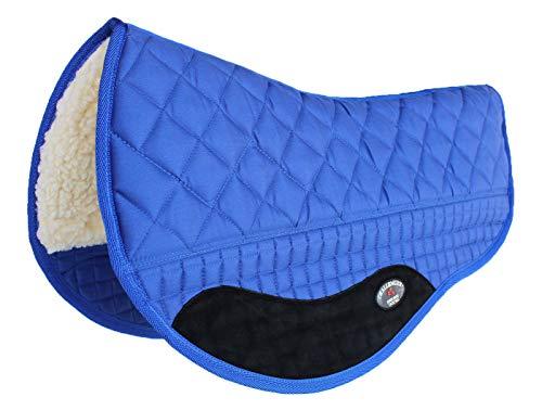 Western Horse Saddle PAD 27X32 Double Back Barrel Fleece Lined Blue 39168
