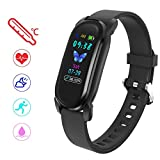 Nalite Fitness Tracker Temperature Test Bracelet IP67 Waterproof Smart Watches with Multi-Sport Mode/ Heart Rate/ Blood Oxygen/ Step Recording/ Calorie Function/ Information Push for Men and Women