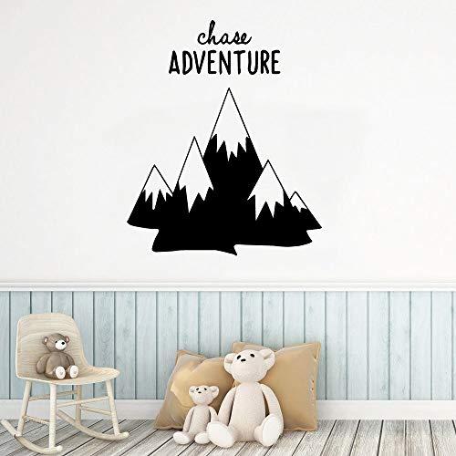 Yaonuli Adventure Mountain muurstickers van vinyl versieren de decoratieve stickers voor slaapkamer kinderkamer