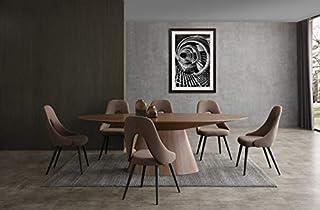 Whiteline Modern Living Dining Walnut Bruno Oval Table in Gray Oak or Natural Veneer (B087XYQFL7) | Amazon price tracker / tracking, Amazon price history charts, Amazon price watches, Amazon price drop alerts