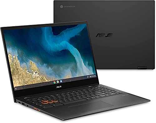 """ASUS Flip CM5500 Chromebook, 15.6"""" Touchscreen FHD (1920x1080) 250-Nits Display, AMD Ryzen 5 3500U,8GB RAM, 128GB SSD, Backlit Keyboard, Wi-Fi 6, with WOOV Accessories"""