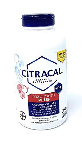 Citracal Maximum Plus Calcium Citrate + D3, 280 Caplets