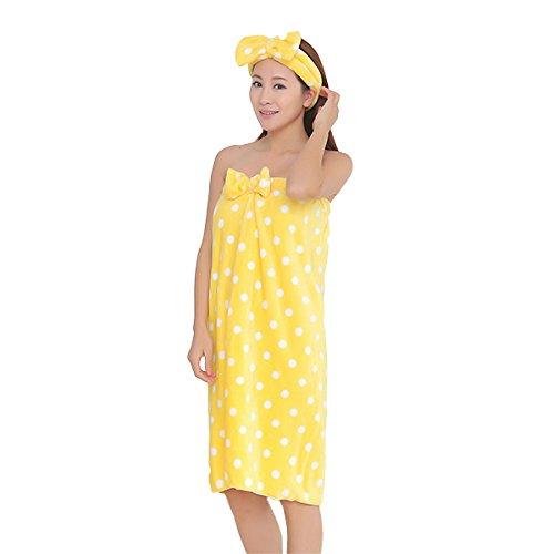GGGarden Honana BX-399 flanel zachte badhanddoek badjas vrouwen SPA badhanddoek set met haarband Bloemen
