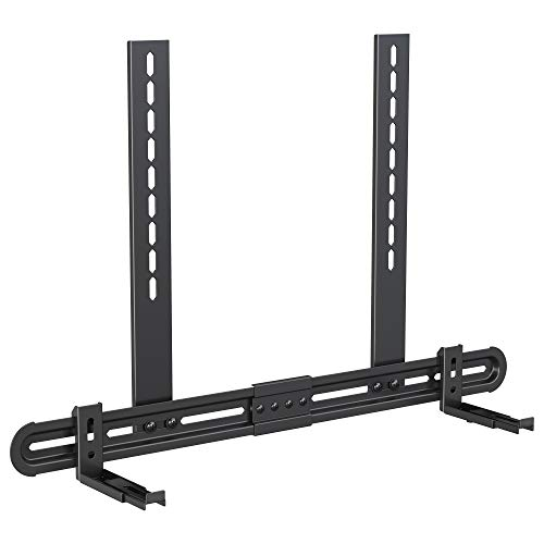 "USX MOUNT Universal Soundbar Mount, Sound Bar TV Bracket for Soundbar with Speaker, Fits 2 Installation Options, Removable No-Slip Base Holder Extends 3.46""-6.06"""