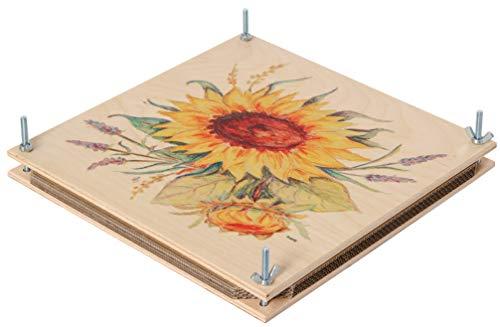 Bartl 111558 Riesen-Blumenpresse aus Holz 30 cm x 30 cm bunt Top Qualität. Made in Germany.