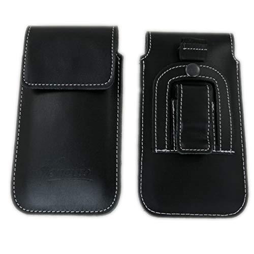 handy-point Flap Universell 5,1'' - 5,7'' Smartphones, Gürteltasche mit Clip aus Echtleder, Tasche für Gürtel Handytasche, Gürtelclip, Befestigung für den Hosengürtel, Ledertasche, Lederhülle, Leder, für iPhone 6 Plus, 6S Plus, iPhone 7 Plus, Samsung Galaxy A5 2016, Note Edge, Note 3, S6 Edge+, S7 Edge, Huawei P8, P9, P9 Lite, Mate S, G8, Mate 8, Google Nexus 6, 6P, OnePlus One, Two, LG G Flex 2, G4, G5, Motorola Moto X Style, Play, Microsoft Lumia 950 XL ... schwarz