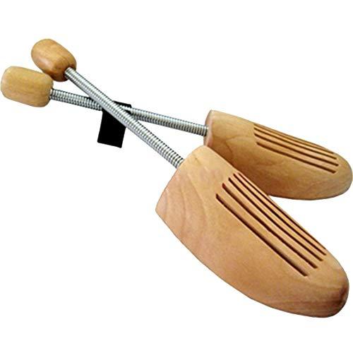1 Pares madera de pino natural unisex hormas de zapato, tensor de espiral primavera camilla zapatos