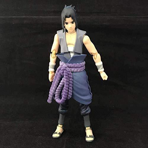 Mdcgok Uchiha Sasuke Figurines d'action Super articulations Mobiles Statue de Changement de Visage Japon Anime Naruto Shippuden Personnage Figurines 14 cm PVC