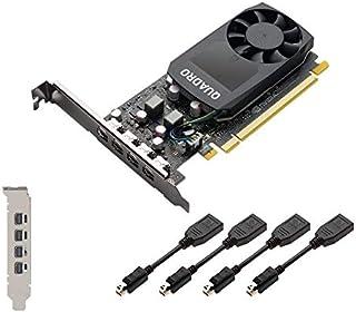 PNY Quadro P1000 - Tarjeta gráfica (4 GB, GDDR5)
