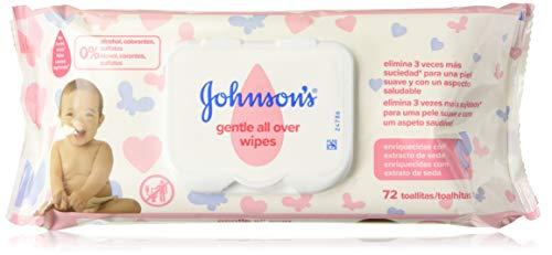 Johnson's Gentle All Over Toallitas, enriquecido con extracto de seda - 3 x 72 toallitas