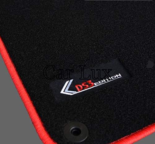 Car Lux AR00723 – Tapis de voiture sur mesure en velours pour DS3 à partir de 2009