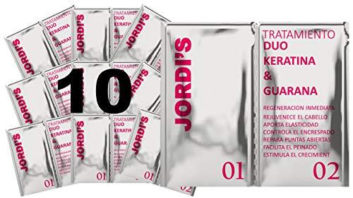 Pack 10 ud. - Tratamiento ultranutritivo y brillo duo de queratina y guaraná