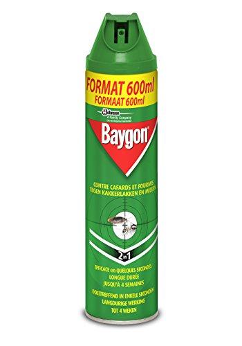 Baygon aerosol acción repelente (insectos, cucarachas hormigas y), 400ml, insecticida, 2en 1