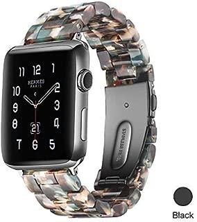 Apple Watch ile Uyumlu Bant-Kordon-Kayış, Moda Reçine iWatch Bant-Bilezik, Bakır Paslanmaz Çelik, Apple Watch Serisi 4 Serisi 3 Serisi 2 Serisi 1 için Kullanılır (38mm-40mm, Bej)