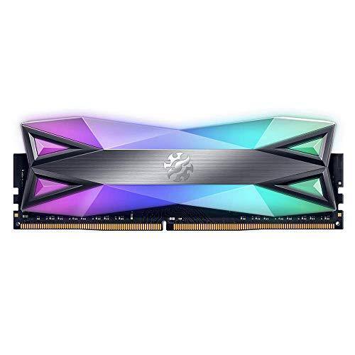 ADATA XPG SPECTRIX D60G 16GB (2x8GB) 3000MHz DDR4 CL-16-18-18 Gaming-DRAM Arbeitsspeicher, Titanium Grau